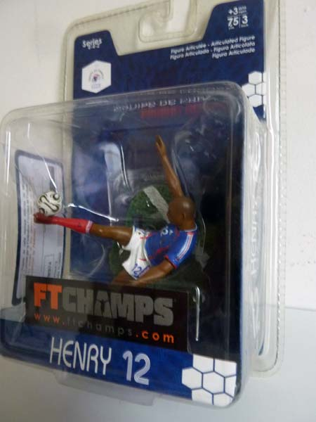 Figurine thierry henry 12 7 5cm 3 ftchamps neuve sous blister - Mondial relay nantes ...